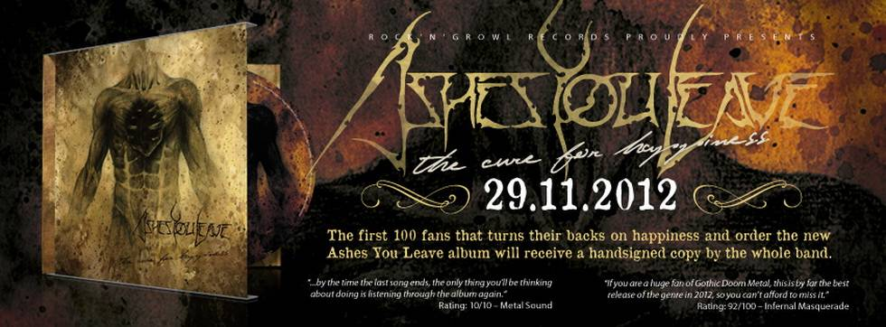 ashescdsigned Ashes You Leave   The Cure For Happiness