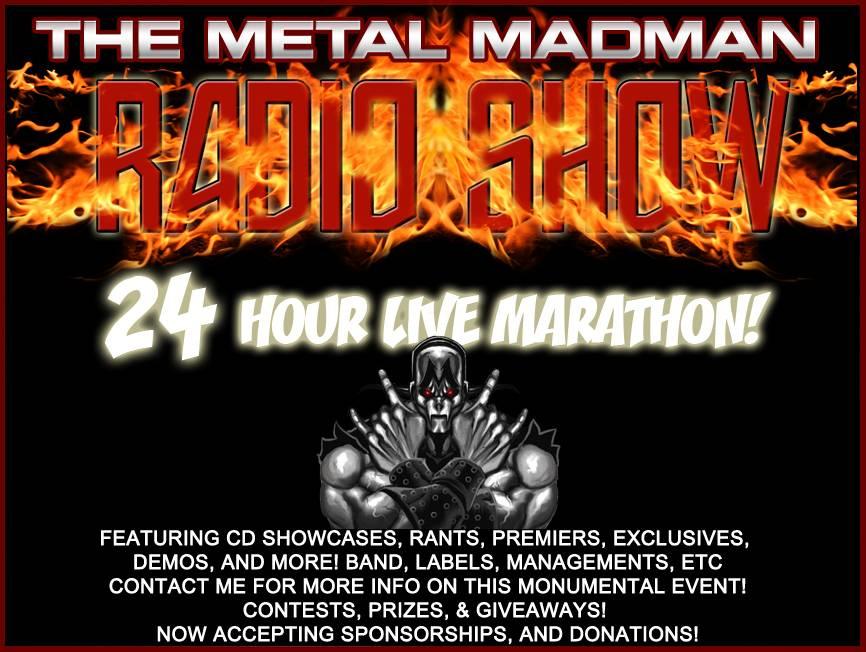 MadmanShow Metal Madman Radio Live Marathon