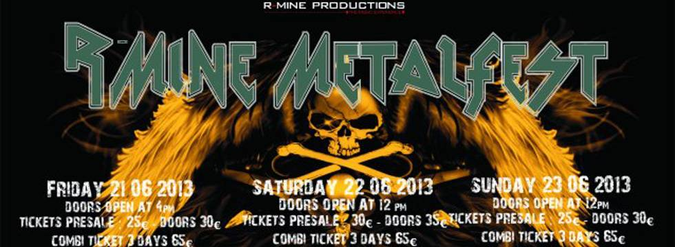 R-Mine Metalfest 2013 Confirm Festival Line-Up