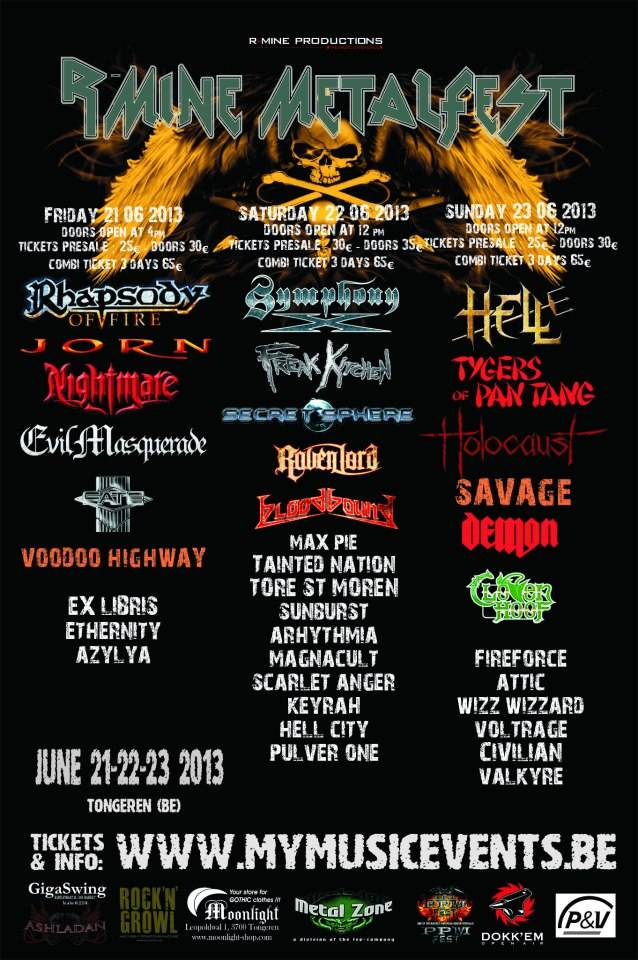 RMineMetalFestival R Mine Metalfest 2013 Confirm Festival Line Up