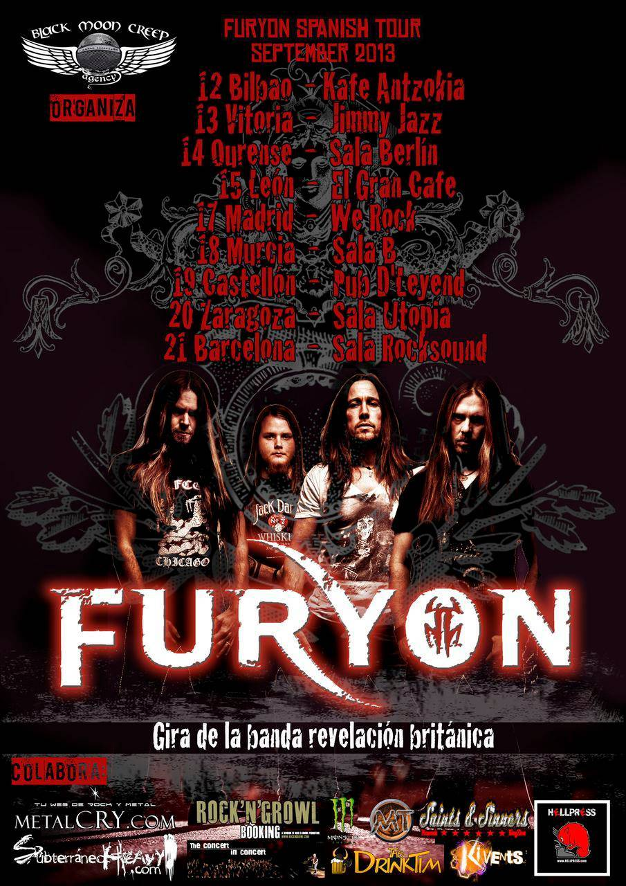 ROCK N GROWL - HARD N HEAVY METAL PROMOTION FURYON To Announce Tour Dates In Spain