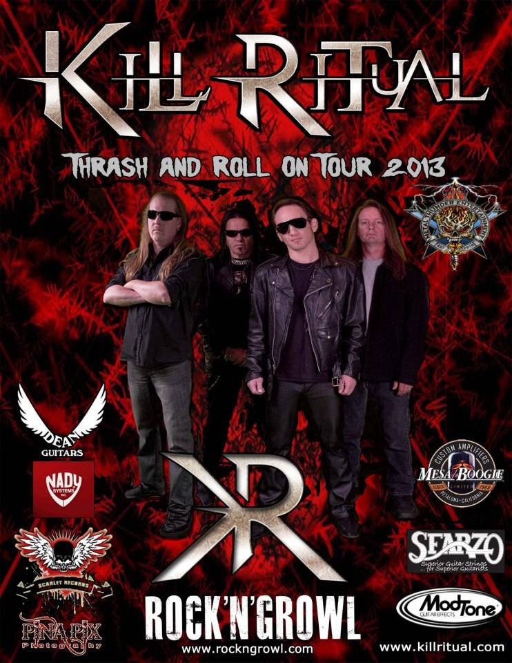 KillRitualTour2013 KILL RITUAL New CD Nears Completion