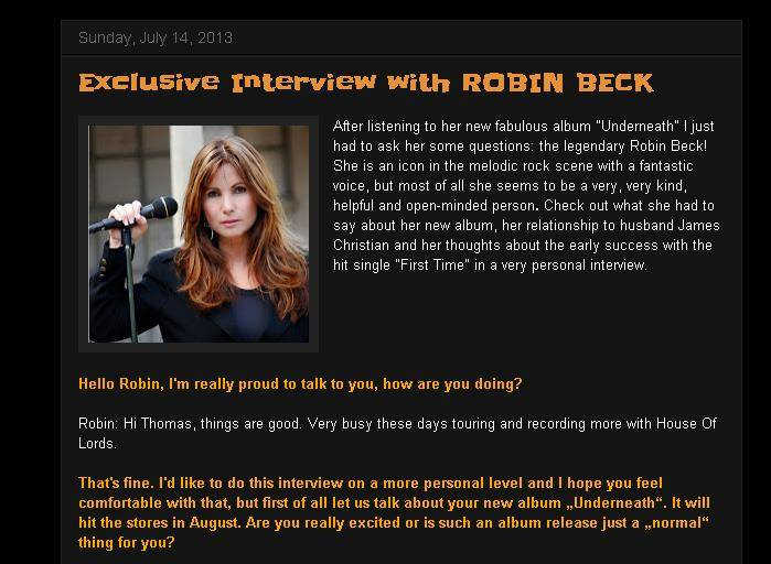 Robin Beck Rock Metal 4 You