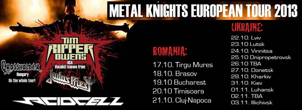 ACIDCELL Tour With TIM RIPPER OWENS