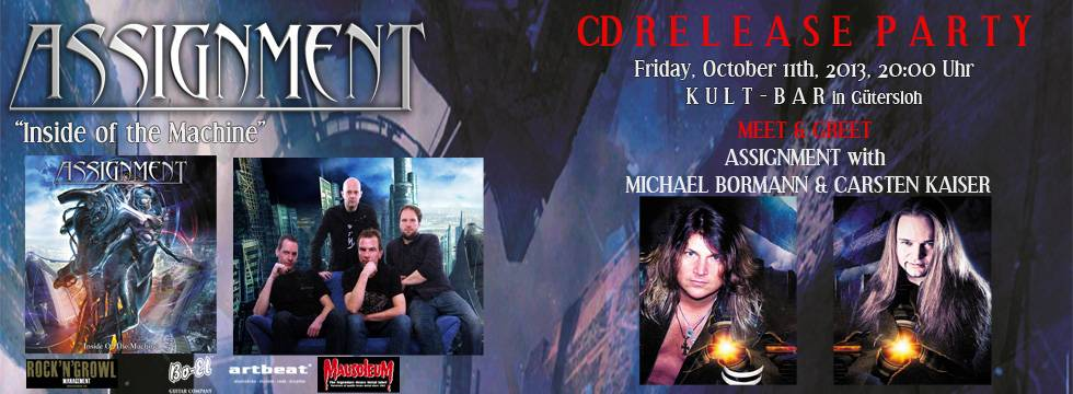 ASSIGNMENT CD Release Party Announced