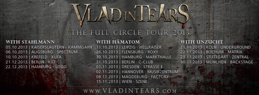 VLAD IN TEARS Announce German Tour
