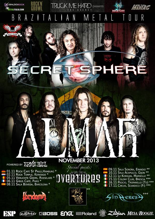 Secret Sphere + Almah Tour