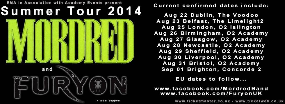 FURYON To Tour UK With MORDRED