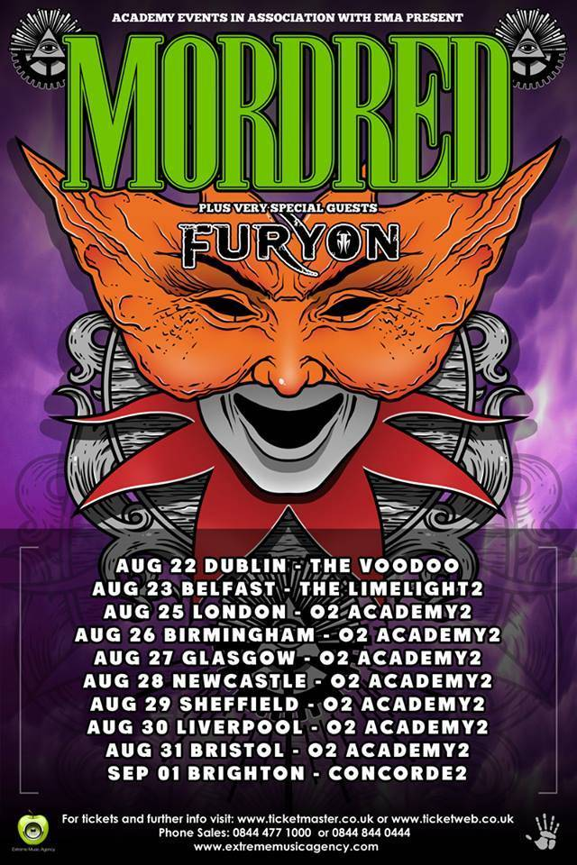 MordredFuryonTour FURYON To Tour UK With MORDRED
