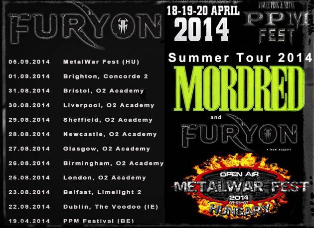 Furyon Tour Dates 2014