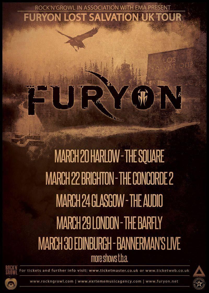 Furyon UK Tour 2015