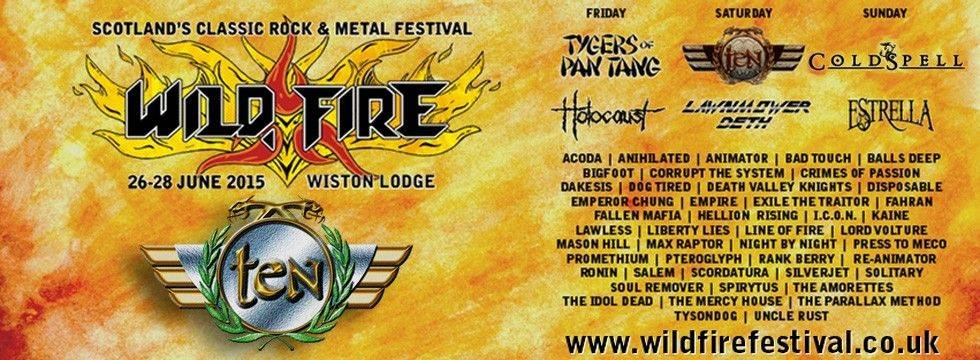 TEN To Headline Wildfire Festival