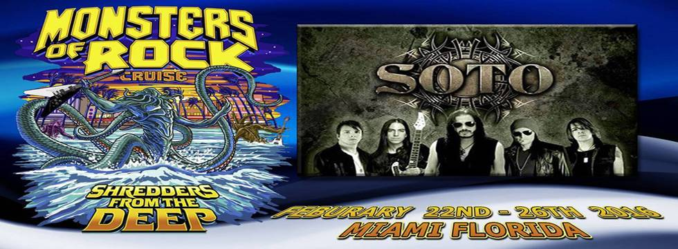Soto Confirmed for Monster Of Rock Cruise