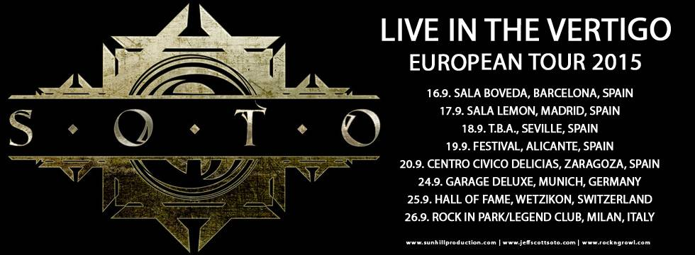 SOTO To Tour Europe In September