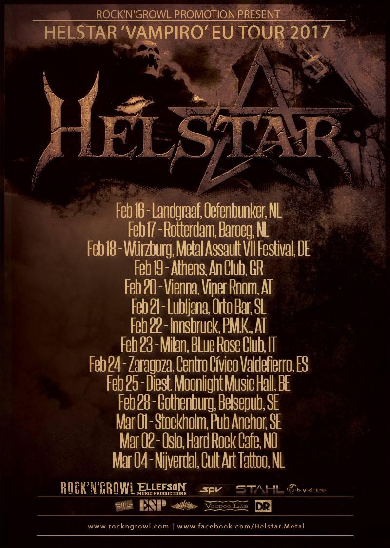 Helstar EU Tour2017