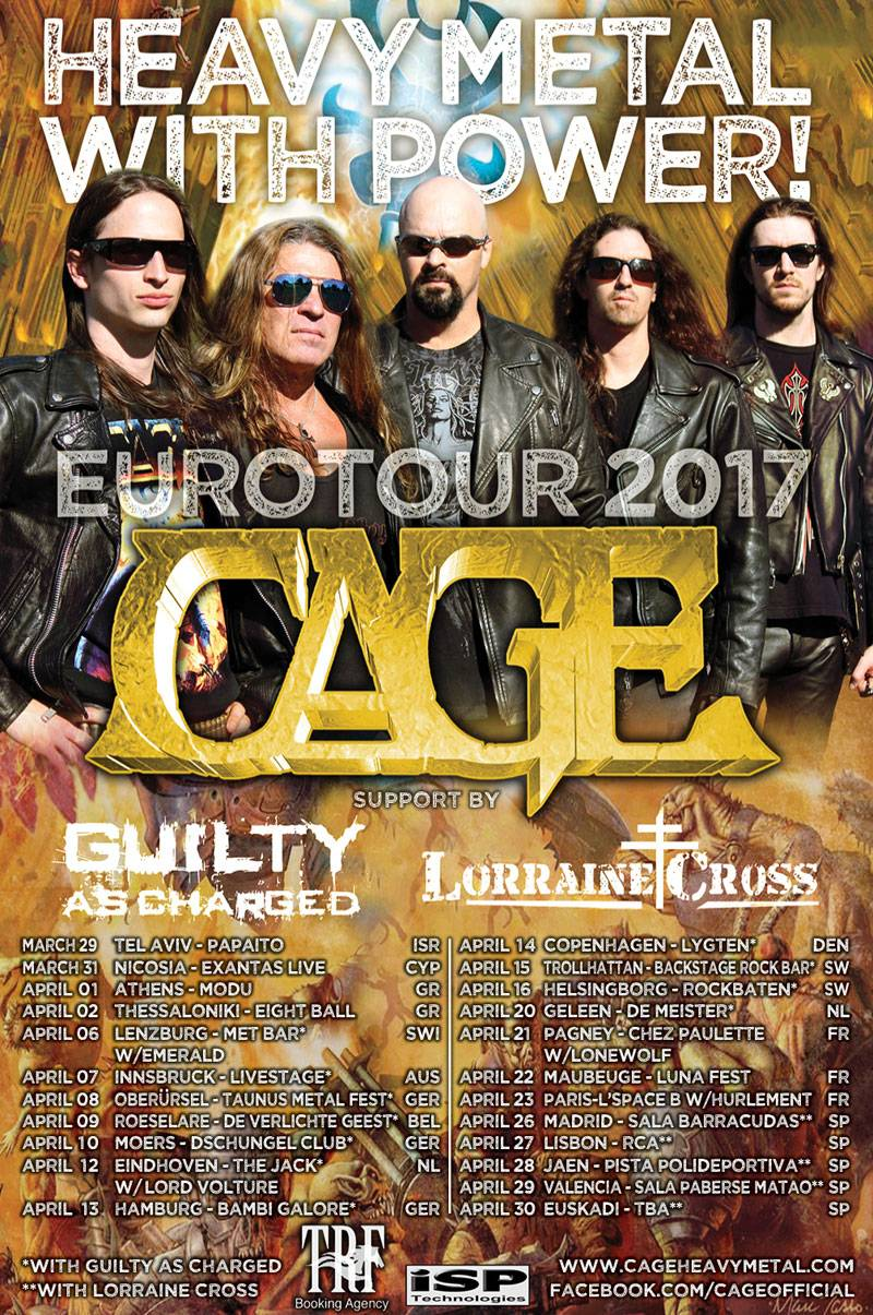 ROCK N GROWL - HARD N HEAVY METAL PROMOTION CAGE Announce European Tour 2017