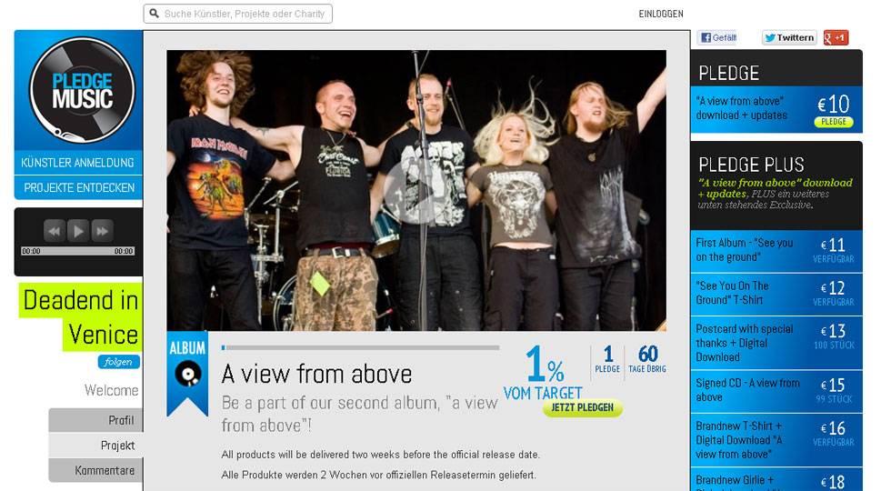 Deadend In Venice Pledge Music Project