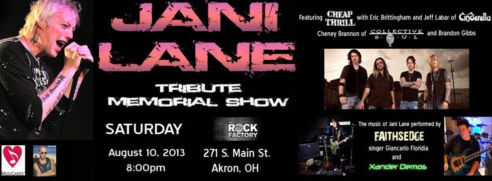 JANI LANE Memorial Show Update