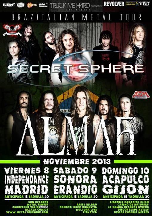 Secret Sphere Almah Tour