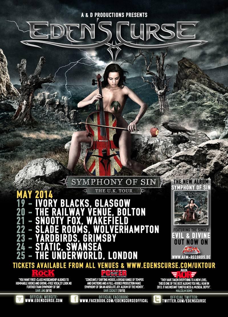 Eden's Curse Tour UK 2014