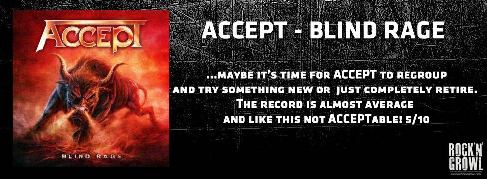 Accept Blind Rage Review