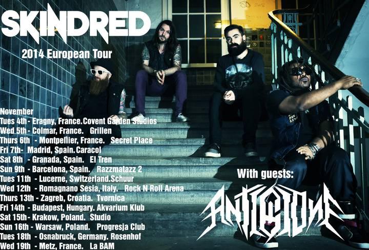 Anti Clone Skindred Tour