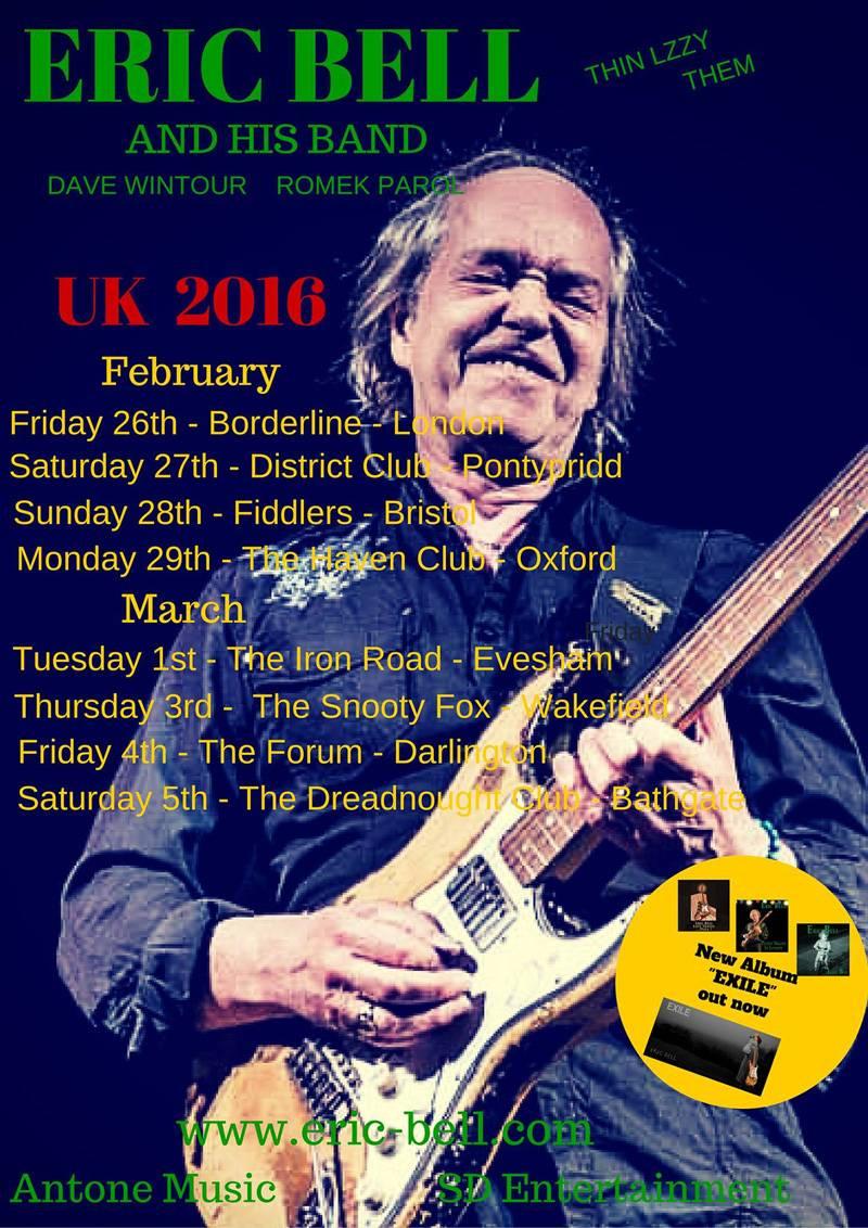 Eric Bell UK Tour