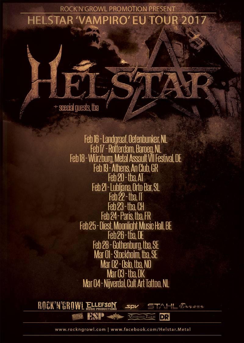 Helstar European Tour 2017