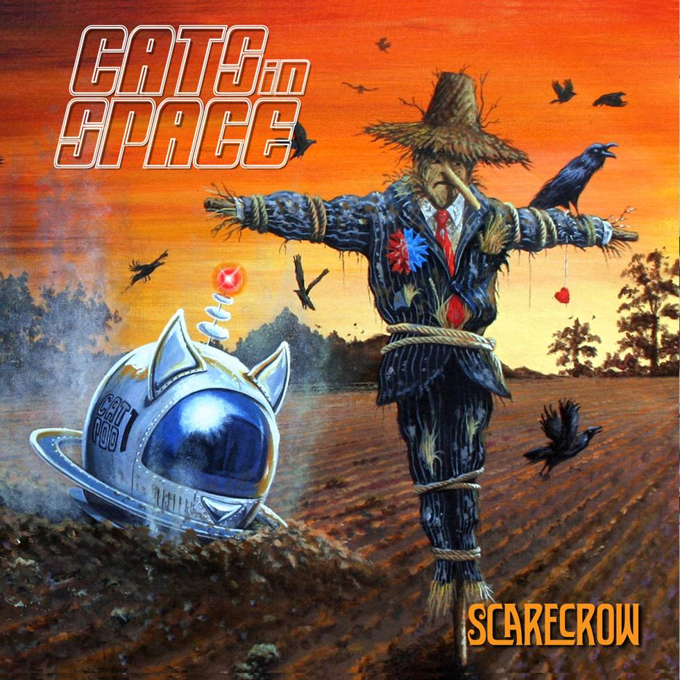 Cats In Space Scarecrow Cover