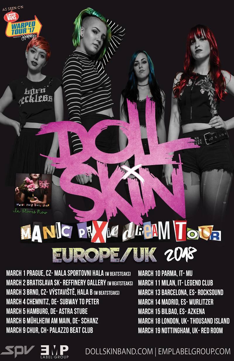 Doll Skin European Tour 2018