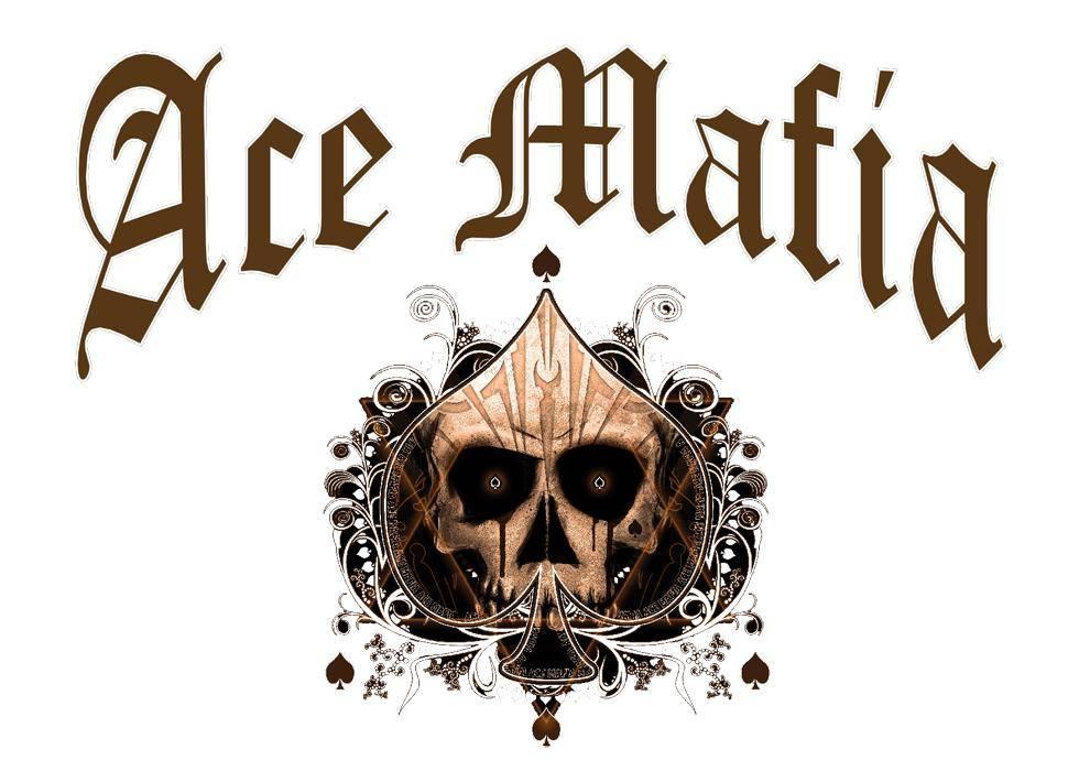 Ace Mafia Typo Skull