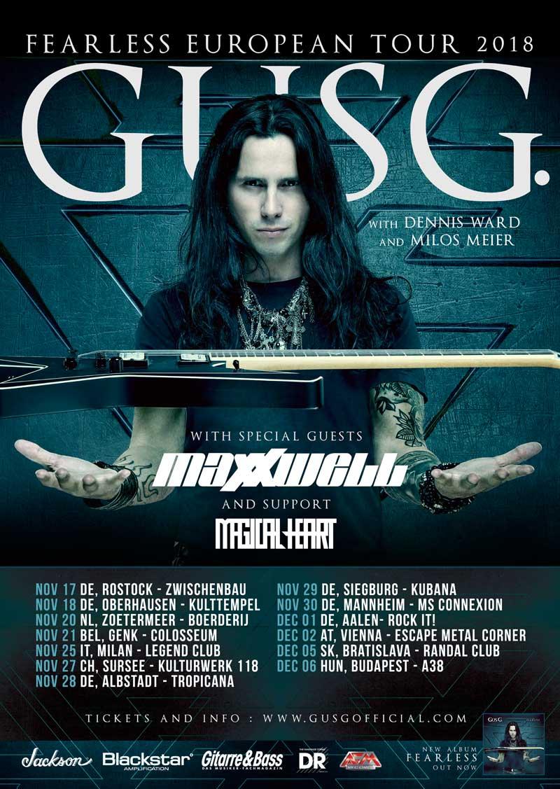 Gus G Maxxwell Tour