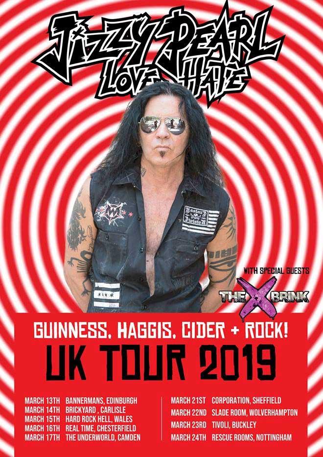 Jizzy Pearl Love Hate Tour