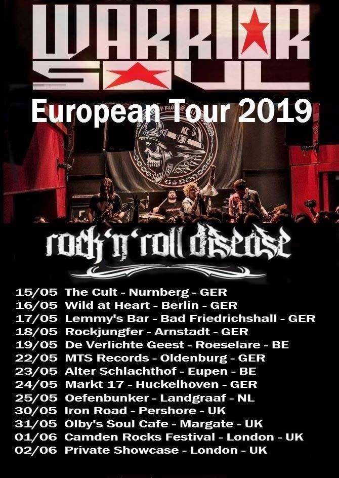Warrior Soul EU Tour 2019