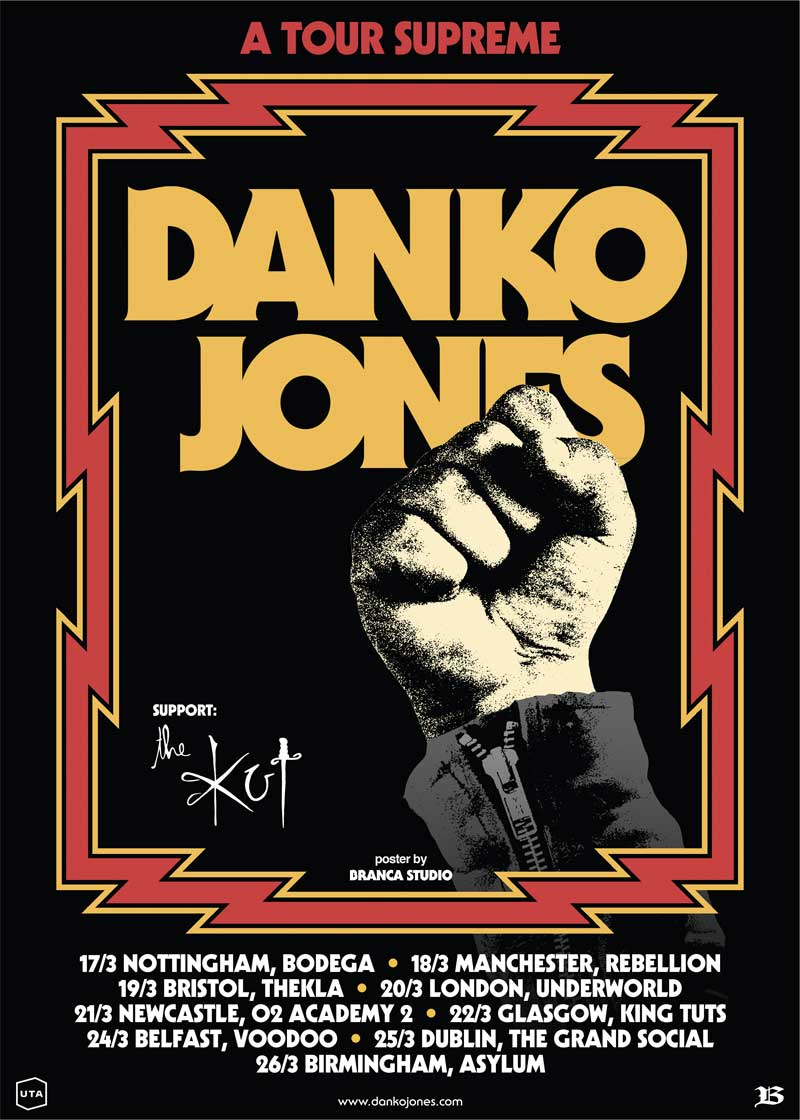 Danko Jones The Kut UK Tour