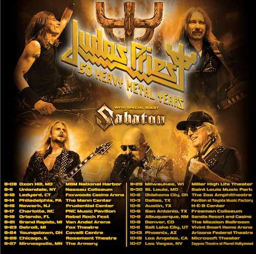 Sabaton Judas Priest US Tour